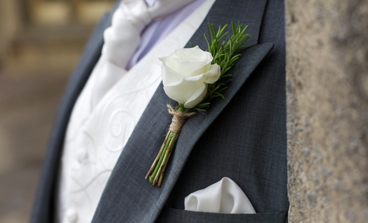 The Word Onhole As Translated From French Language Means A Flower In Tab Of Jacket Is One Oldest Wedding Accessories