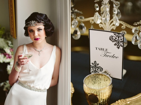 "Wedding in the style of ""The Great Gatsby"""