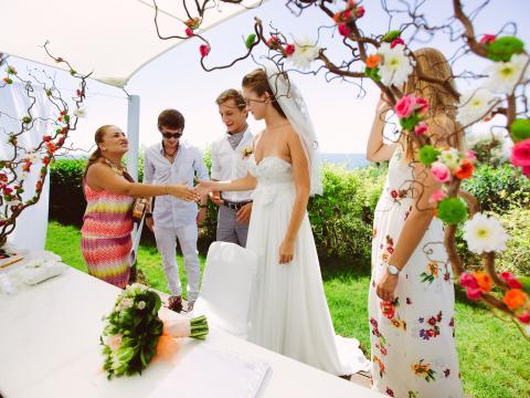wedding in Alion hotel