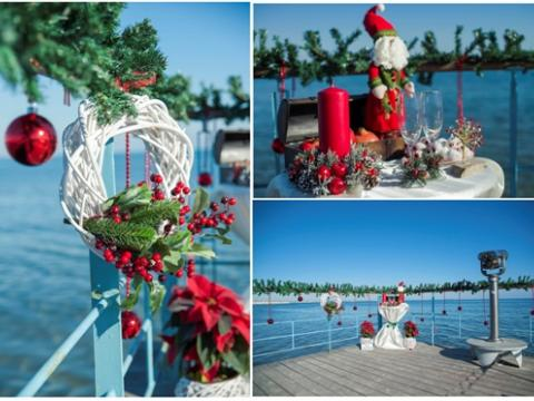 Winter wedding in Cyprus, new year decoration