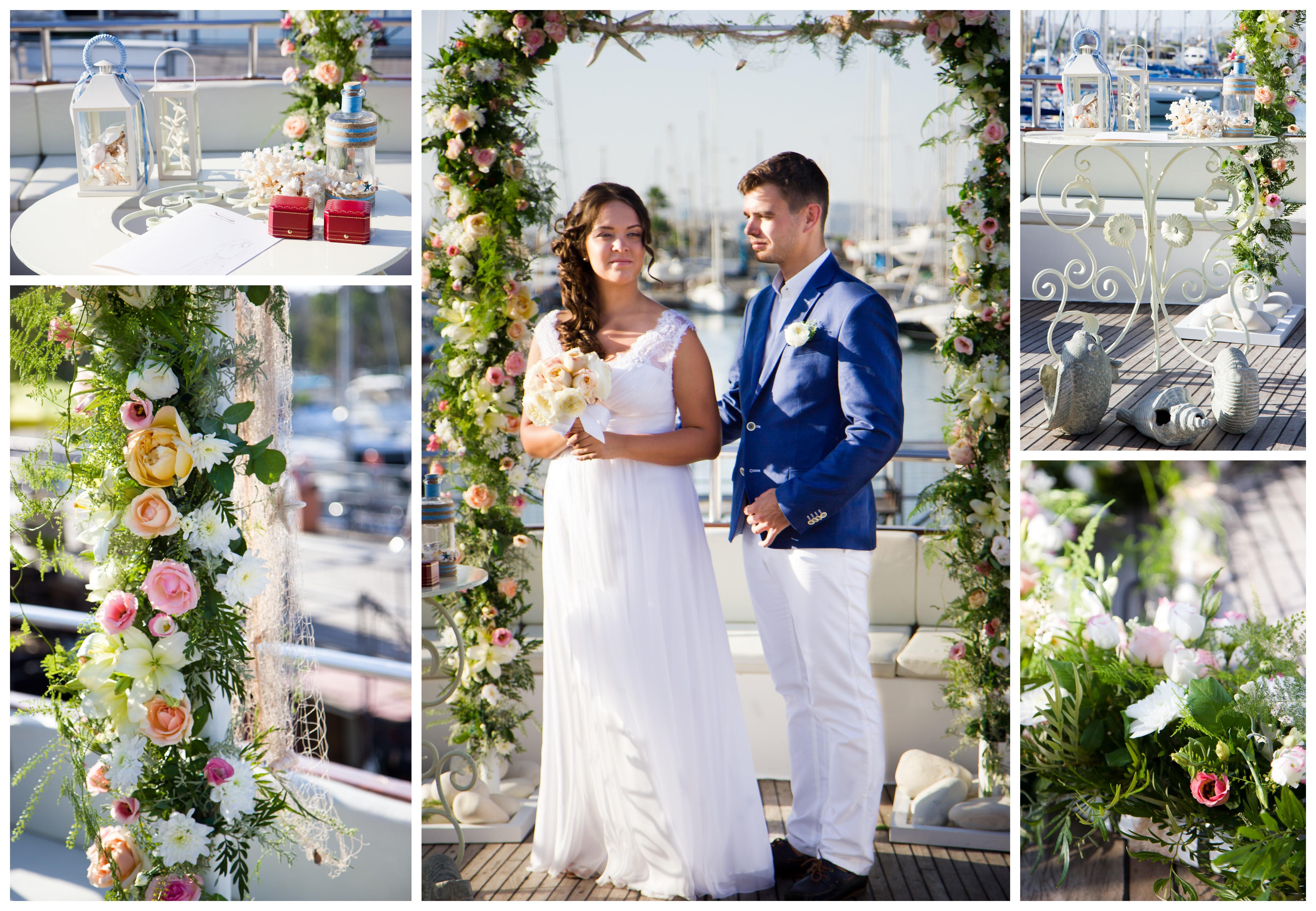 свадьба на Кипре, свадьба на яхте
