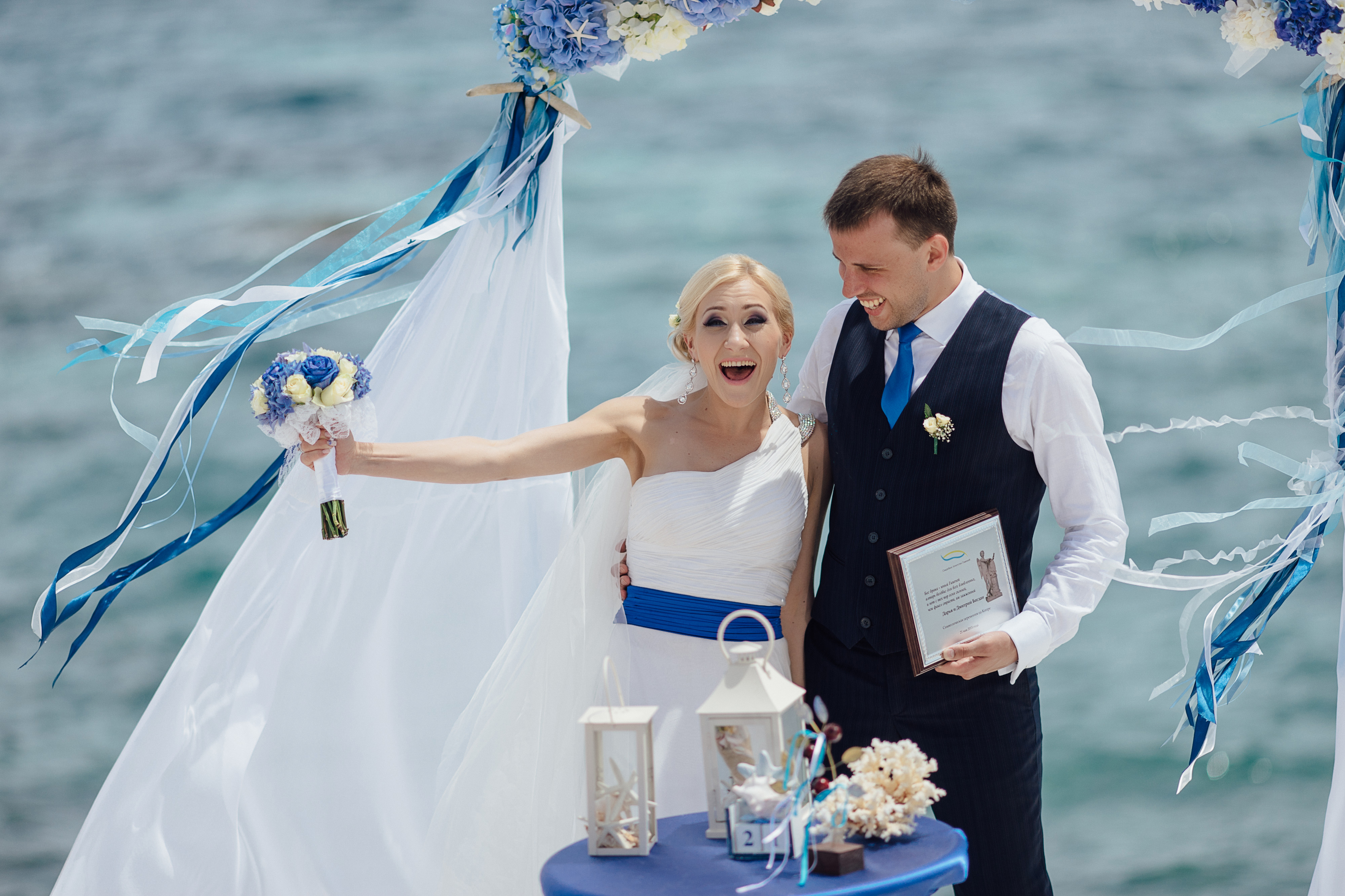 свадьба на Кипре, белые камни
