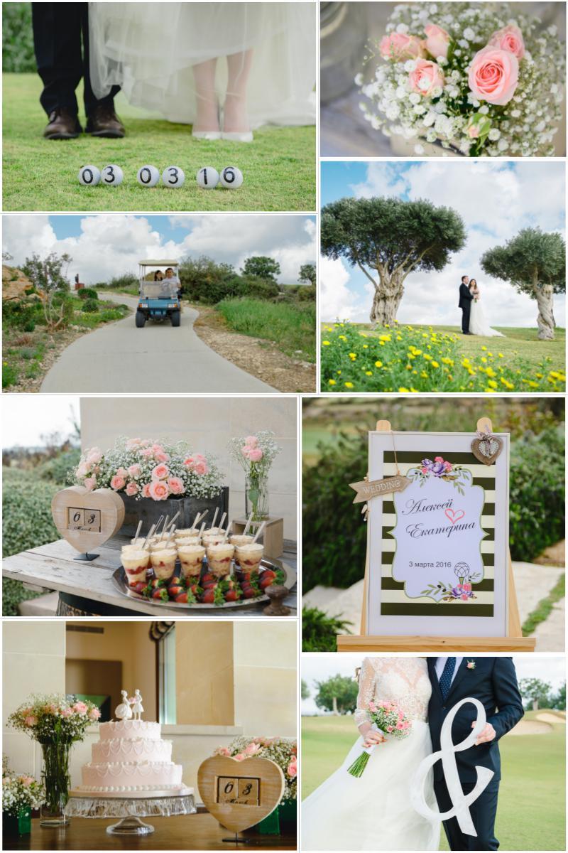 свадьба на поле для гольфа