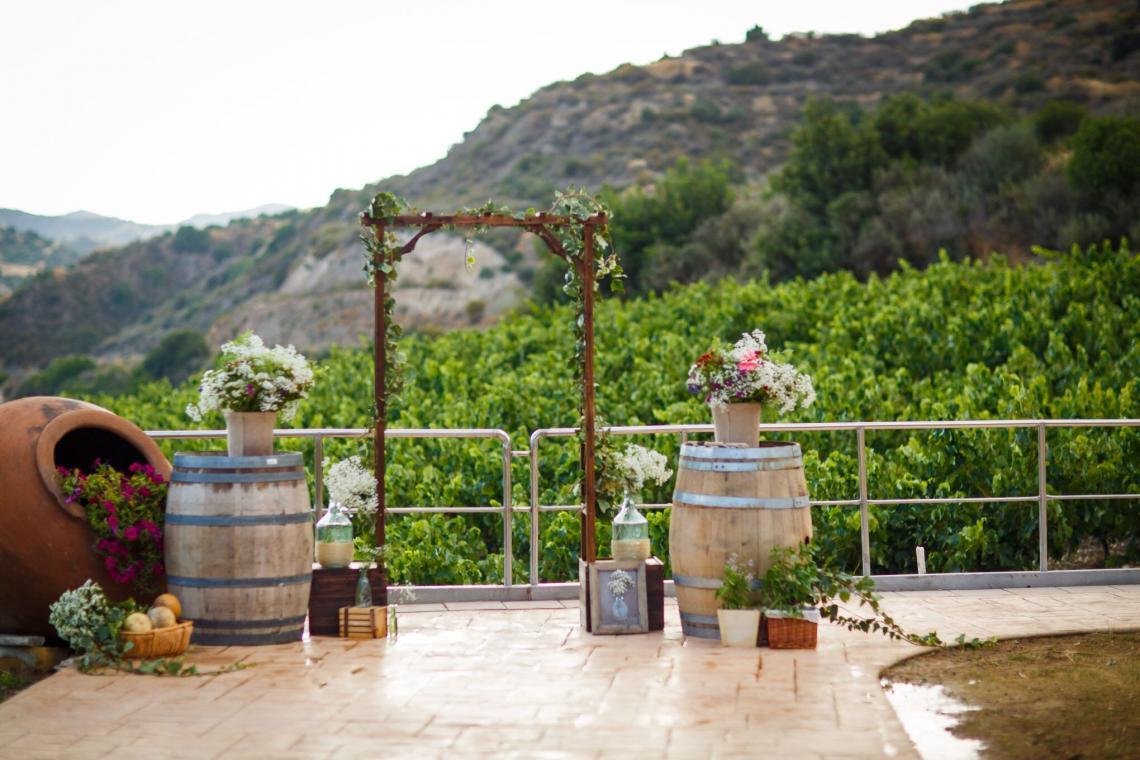 свадьба на Кипрской винодельне