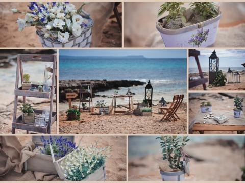 Свадьба на Кипре, рустикальный стиль