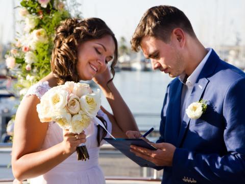 Свадебная прическа, свадьба на Кипре