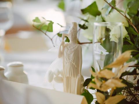 оформление зала, свадьба на Кипре