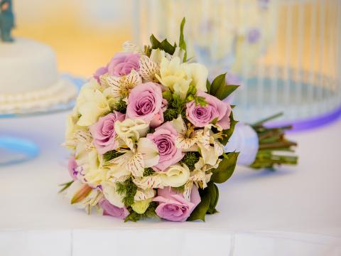 букет невесты,свадьба на Кипре