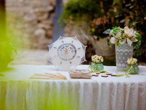 Свадьба на Кипре Лефкара оформление винтажное