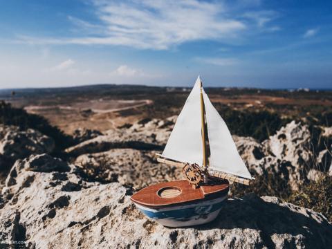 Подушечка-кораблик для колец